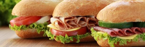 sandwichs, paninis, fritures